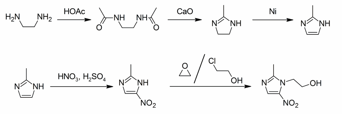 Схема синтеза антибиотика